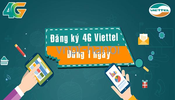 Cách đăng ký gói cước 4G Viettel 1 ngày dùng 24h chỉ 1k, 2k, 3k,…15k