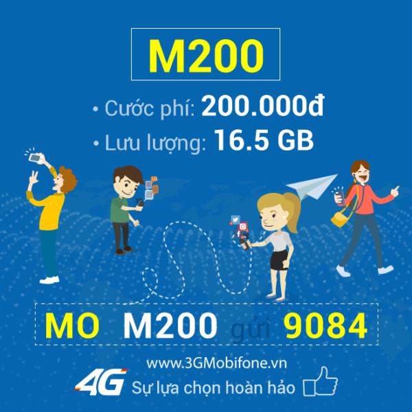 Đăng ký gói M200 Mobifone có ngay 16,5GB – thả ga lướt web
