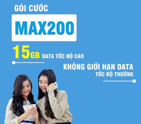 Đăng ký gói cước MAX200 Vinaphone tặng 15GB như thế nào?